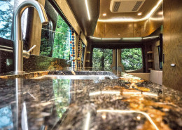 Kitchen Counter and Faucet