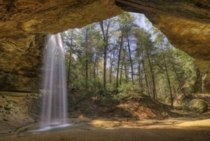 waterfall at hocking hills