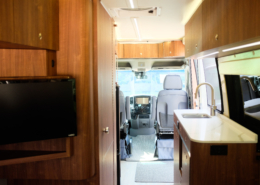 class B rv interior looking forward